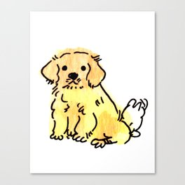 Butters - Puppy Watercolour Canvas Print