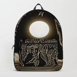 Full moon night Backpack