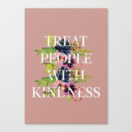 Treat People With Kindness graphic artwork / Harry Styles Canvas Print