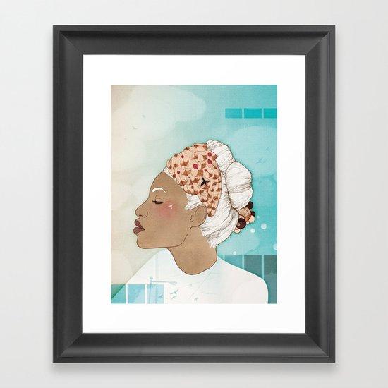 Feathery Turnings (I) Framed Art Print