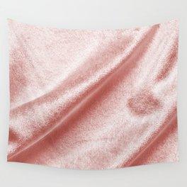 Rose gold abstract velvet velour texture Wall Tapestry