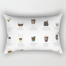 Coffee Chart - Around The World Rectangular Pillow