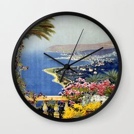 San Remo vintage travel poster Wall Clock