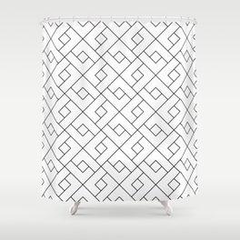 Emilia - Black and White Pattern Shower Curtain
