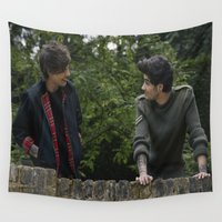 louis tomlinson Wall Tapestries featuring Louis Tomlinson x Zayn Malik by behindthenoise