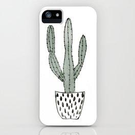Potted cactus iPhone Case