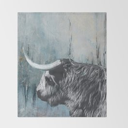 Highland Bull Throw Blanket