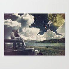 Paint me the moon Canvas Print