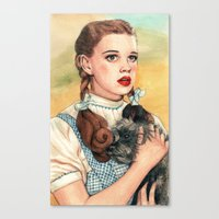 kansas Canvas Prints featuring I Don't Think We're In Kansas Anymore by Helen Green