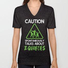 Zombie Apocalypse Zombies Fiction Shirt Gift Unisex V-Neck