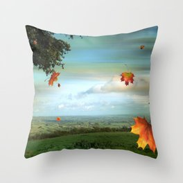Windy Day Blagdon. Throw Pillow