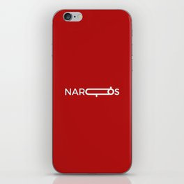 Narcos Minimalist Typography Art iPhone Skin
