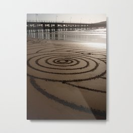 Concentric Spiral Metal Print