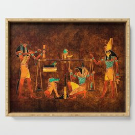 Ancient Egyptian Gods Serving Tray