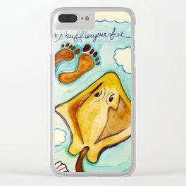 #shuffleyourfeet Clear iPhone Case