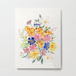 Loose Autumn Bouquet Metal Print