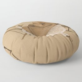 The Geese and the Pumpkin Floor Pillow