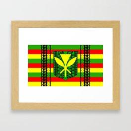 Tribal Kanaka Maoli Framed Art Print