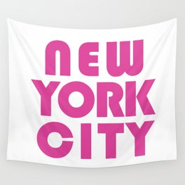 New York City in Pink Wall Tapestry
