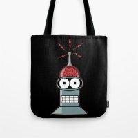 bender Tote Bags featuring Bender by Betmac