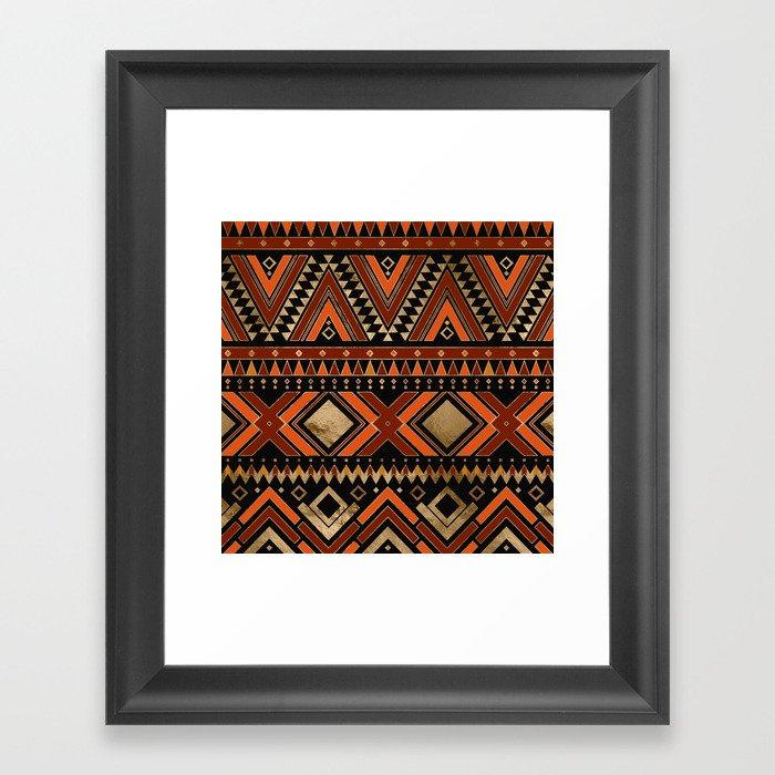 Aztec Ethnic Pattern Art N7 Gerahmter Kunstdruck