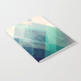 Mountains print, Abstract print, geometric wall art, abstract mountain, minimalist art, modern art, Notebook