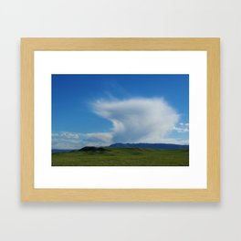 Clouds and prairie near Laramie, Wyoming Framed Art Print