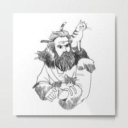 Tormund Giantsbane, cat lover Metal Print
