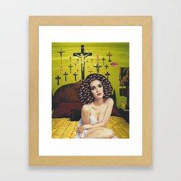 A cross to bear Framed Art Print