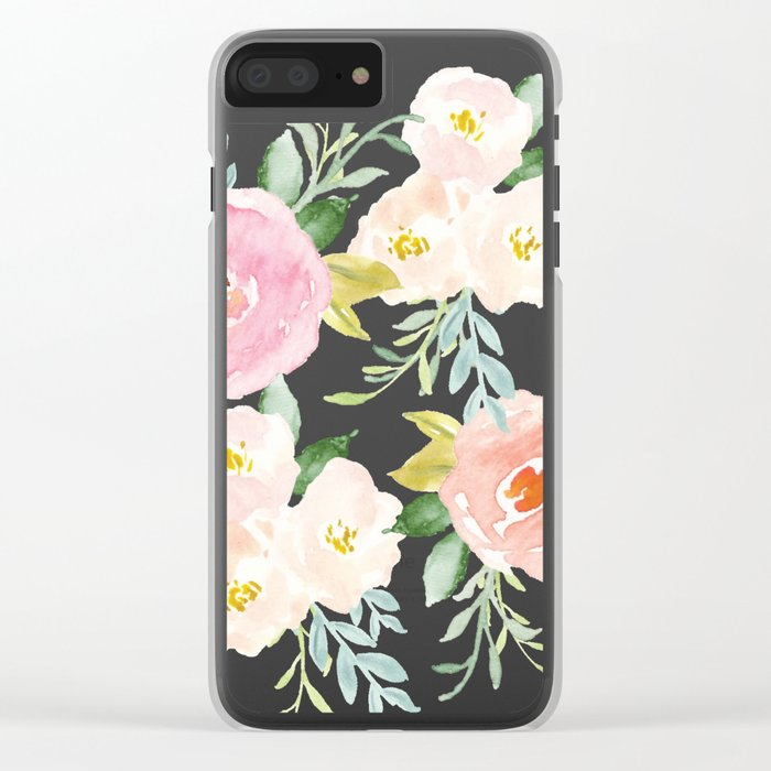 Sweet Pink Blooms (Floral 02) Clear iPhone Case