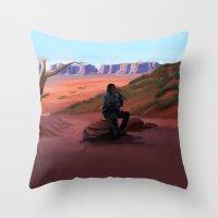 navajo Throw Pillows featuring Navajo by Camilla Häggblom