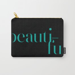 Typography: Didot = Beautiful Carry-All Pouch