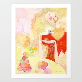Dreaming in Paris  Art Print