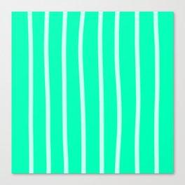 Mint Vertical Brush Strokes Canvas Print