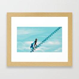 Truman's Stairway to Heaven Framed Art Print