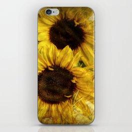 Vintage Sunflowers iPhone Skin