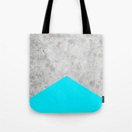 Concrete Arrow - Neon Blue #504 Tote Bag
