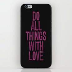 PINK Quote iPhone & iPod Skin