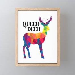 queer deer funny deer areas forest deer deer Framed Mini Art Print