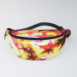 Bright glowing orange golden stars on a light background in the projection. Fanny Pack