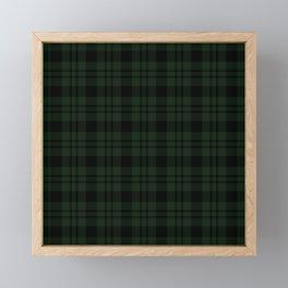 Plaid (Dark green) Framed Mini Art Print