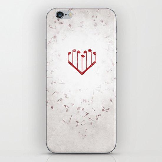 Music Heart gray iPhone & iPod Skin
