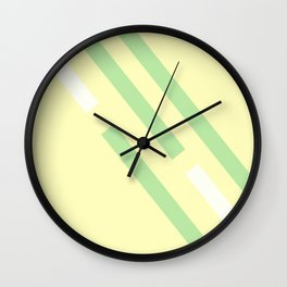 Green yellow white Wall Clock