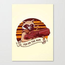 Rocket Raccoon / Fox on the Run Canvas Print