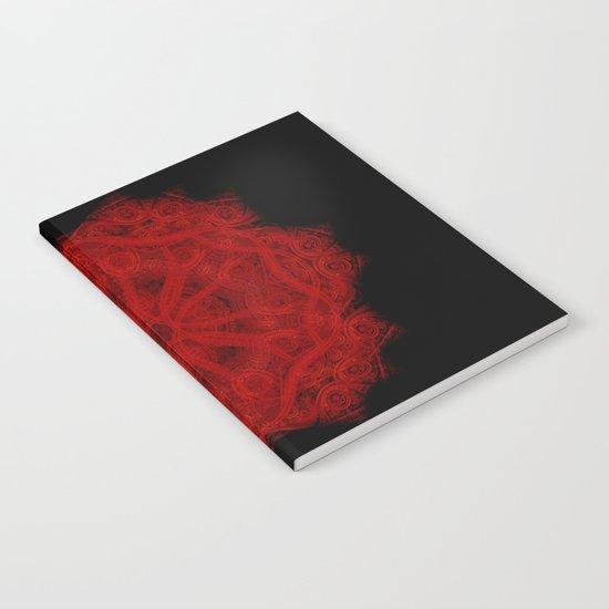 Red Velvet Mandala Notebook
