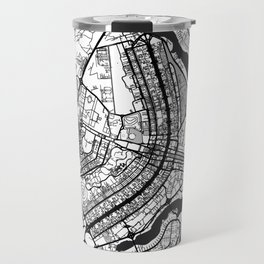 Brasilia Map Gray Travel Mug