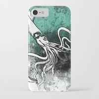 squid iPhone & iPod Cases featuring Squid by Kat Aviles
