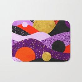 Terrazzo galaxy purple orange gold Bath Mat