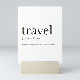 Travel Definition Mini Art Print