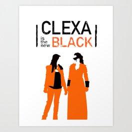 Clexa is the new black Art Print